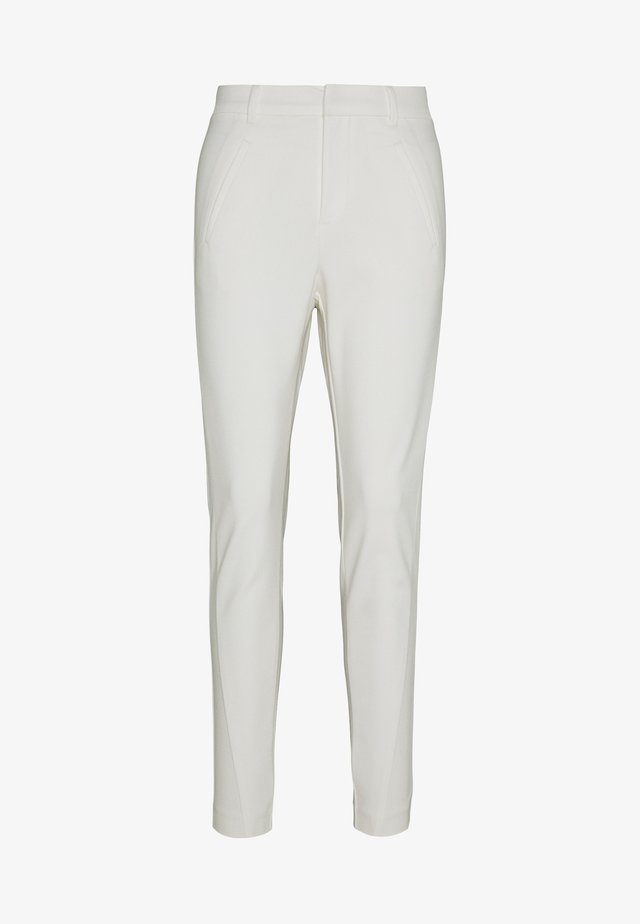 VMVICTORIA ANTIFIT ANKLE PANTS - Stoffhose - snow white
