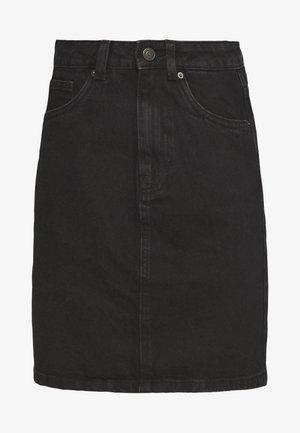 VMKATE SKIRT MIX - Denimová sukně - black