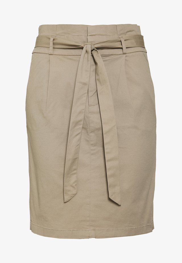 VMEVA PAPERBAG SKIRT TALL - Pencil skirt - silver mink
