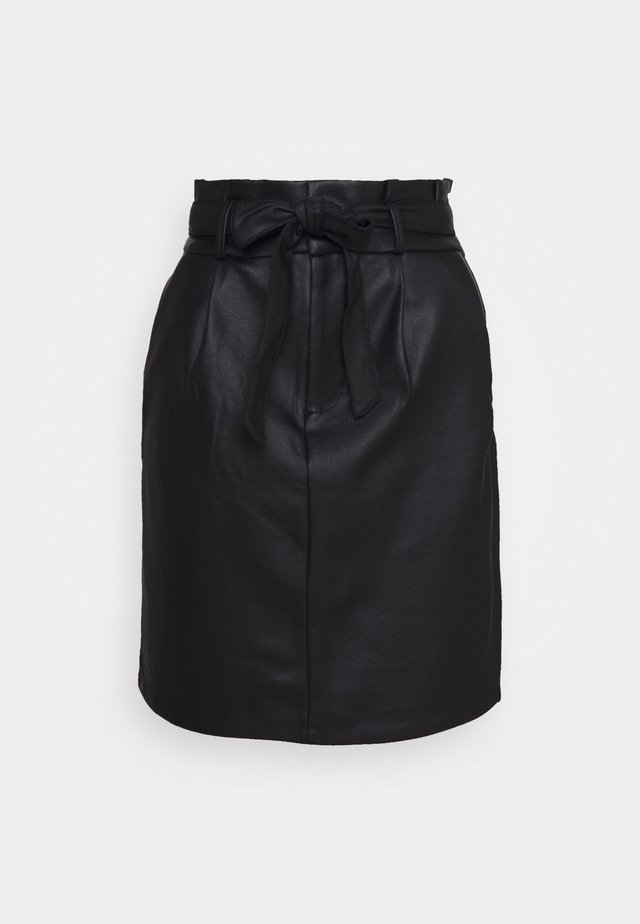 VMEVA PAPERBAG  - Pencil skirt - black