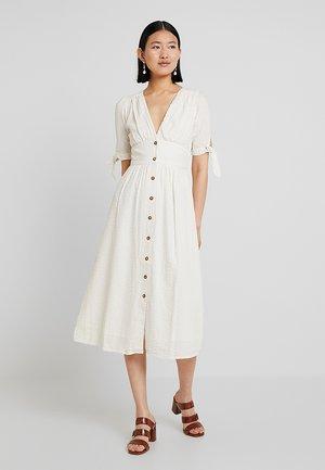 VMMILA CALF DRESS - Maxi dress - snow white/oatmeal