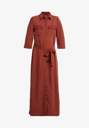 VMABIGAIL 3/4 ANKLE DRESS - Blusenkleid - mahogany