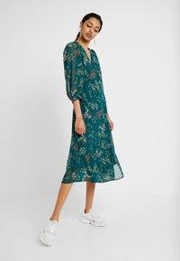 Vero Moda Tall - VMJULIE CALF DRESS  - Day dress - atlantic deep/julie - 0