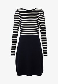 Vero Moda Tall - VMSAILOR  DRESS BOO TALL - Strikket kjole - night sky/white - 3