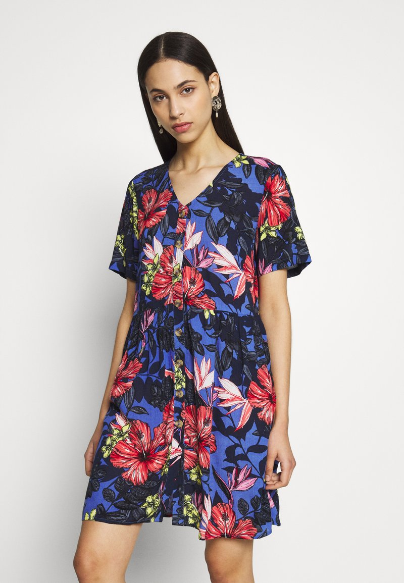 Vero Moda Tall - VMATHEN SHORT SHIRT DRESS - Denní šaty - baja blue/gina