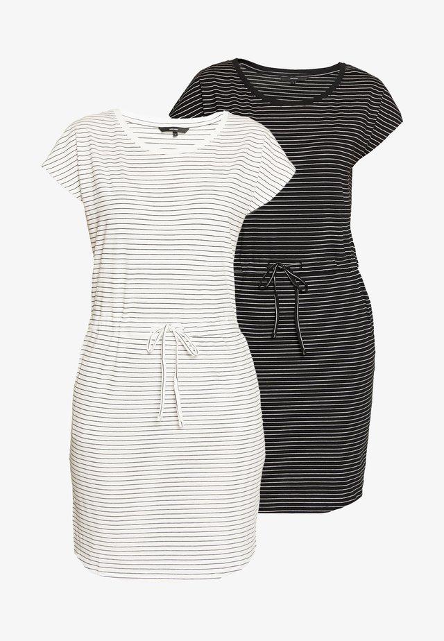 VMAPRIL SHORT DRESS 2 PACK - Jerseyjurk - black/snow