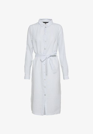 VMHELI SHIRT DRESS - Robe chemise - snow white/placid blue