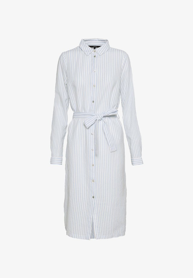 VMHELI SHIRT DRESS - Blusenkleid - snow white/placid blue