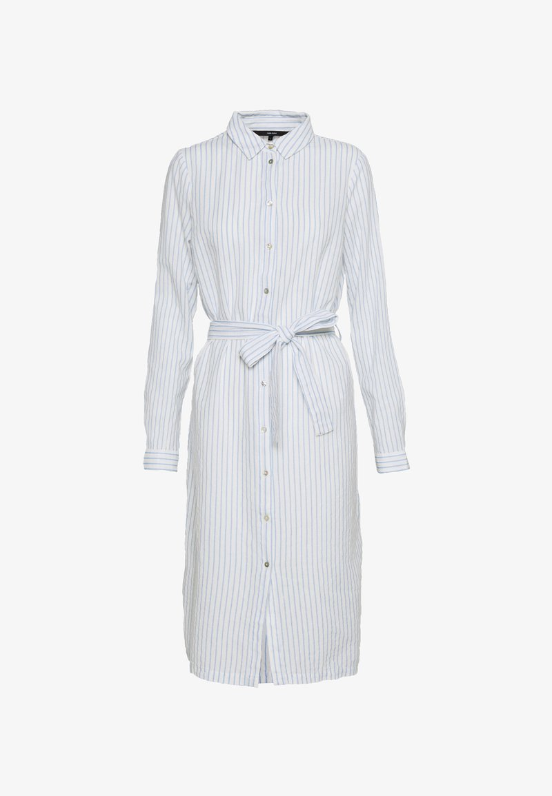 Vero Moda Tall - VMHELI SHIRT DRESS - Skjortekjole - snow white/placid blue