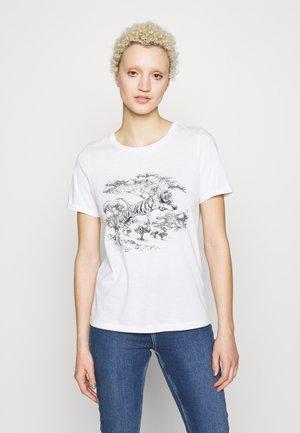 VMSAFARI PRINTED VIP - T-shirts med print - snow white
