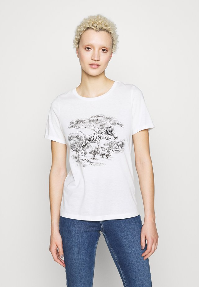 VMSAFARI PRINTED VIP - T-shirt imprimé - snow white