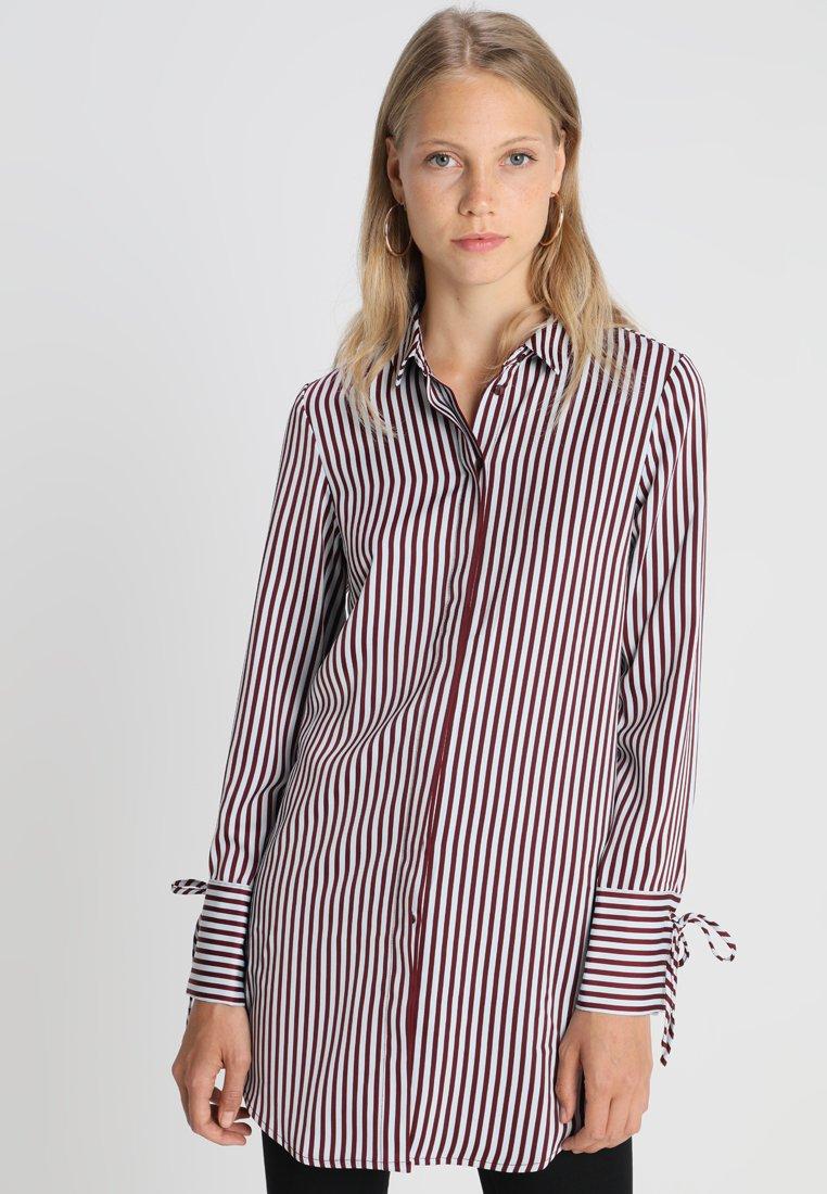 Vero Moda Tall - VMDECADENT LONG SHIRT - Blusa - cashmere blue