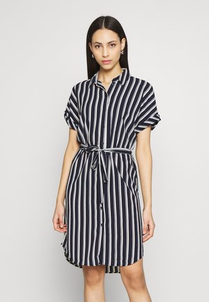 VMSASHA SHIRT DRESS  - Blouse - navy blazer/coco