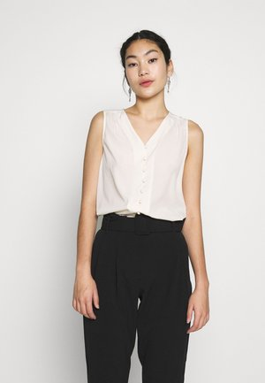 VMNADIA SL V-NECK BUTTON - Bluser - birch
