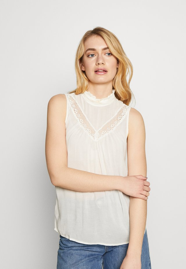 KIRSTEN SL TOP WVN TALL - Blouse - beige