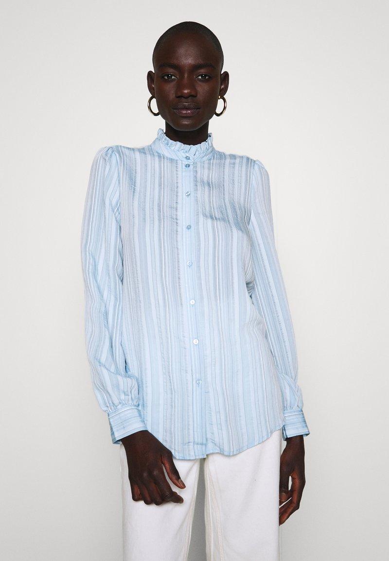 Vero Moda Tall - VMKATA LS ONECK  SHIRT  - Overhemdblouse - ashley blue