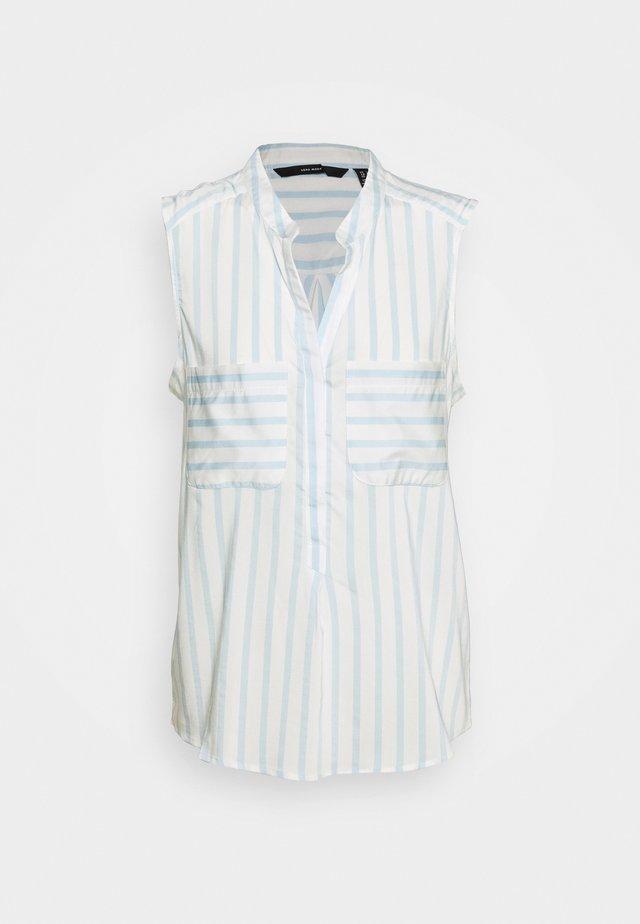 VMERIKA TALL - Bluse - snow white/placid blue