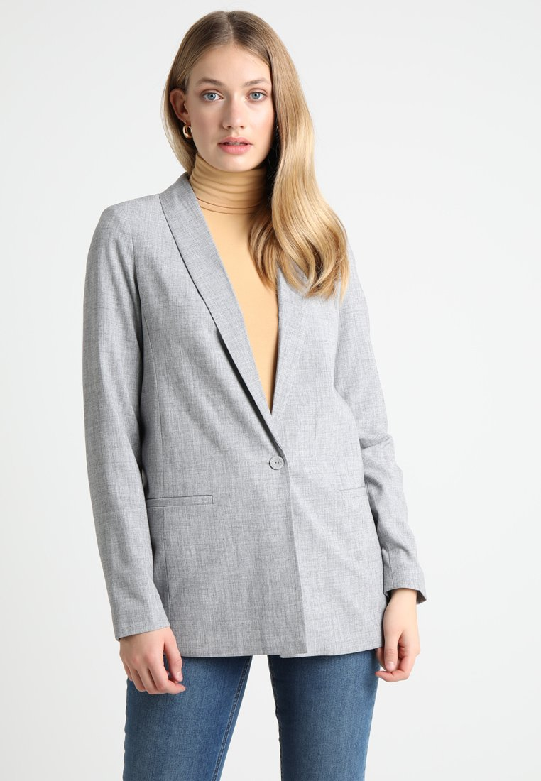 Vero Moda Tall - VMMOLLY - Krótki płaszcz - light grey melange