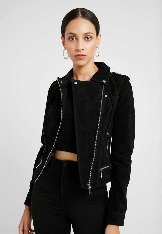 VMROYCE JACKET - Leather jacket - black