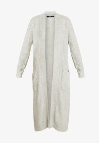 Vero Moda Tall - VMCORA LONG OPEN CARDIGAN - Cardigan - light grey melange - 3