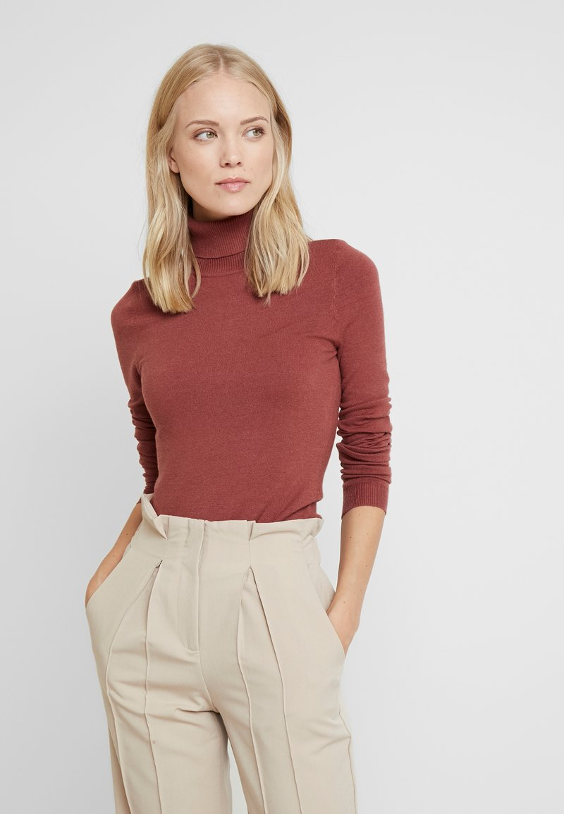 Vero Moda Tall - VMHAPPY BASIC ROLLNECK - Jumper - mahogany