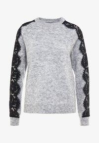 Vero Moda Tall - VMMERLA O-NECK - Maglione - light grey melange/black - 3