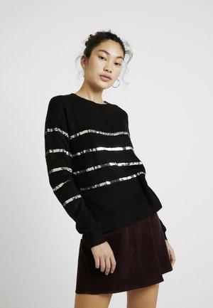 VMBRANA SEQUINS O NECK - Trui - black/silver