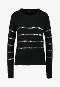 Vero Moda Tall - VMBRANA SEQUINS O NECK - Jumper - black/silver - 3