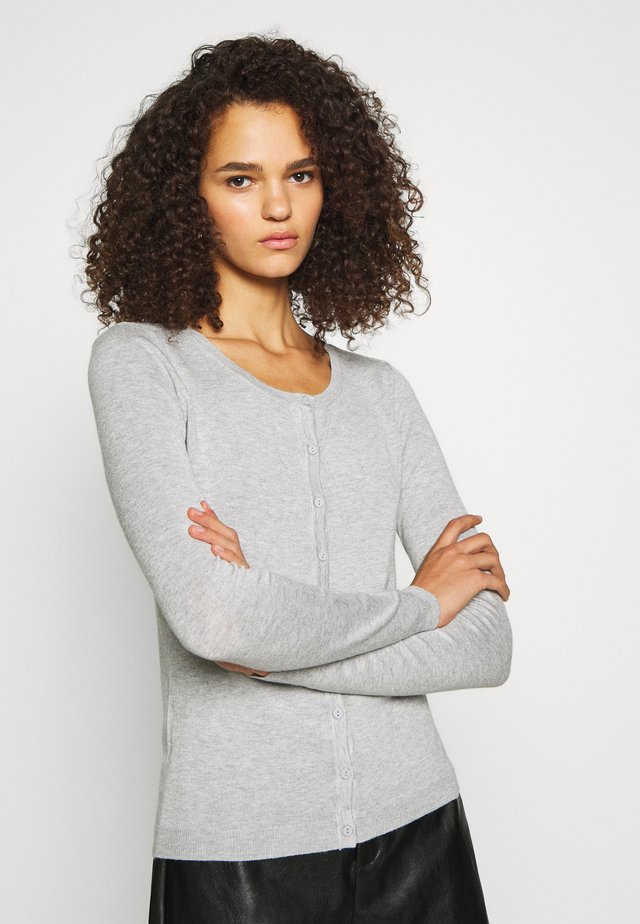 VMNELLIE GLORY O NECK CARDIGAN - Cardigan - light grey melange