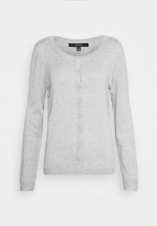 VMNELLIE GLORY ONECK - Cardigan - light grey melange