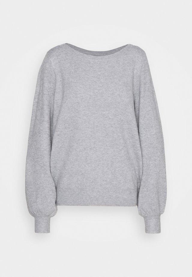 VMBRILLIANT BOATNECK - Strickpullover - light grey melange