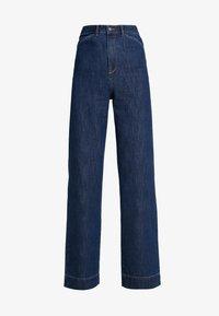 Vero Moda Tall - VMKATHY HERONA WIDE - Flared jeans - dark blue denim - 3