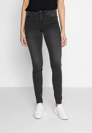 VMTANYA PIPING - Jeans Skinny - dark grey denim