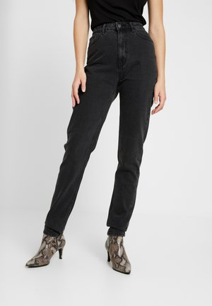 VMJOANA MOM LOOSE  - Straight leg jeans - black