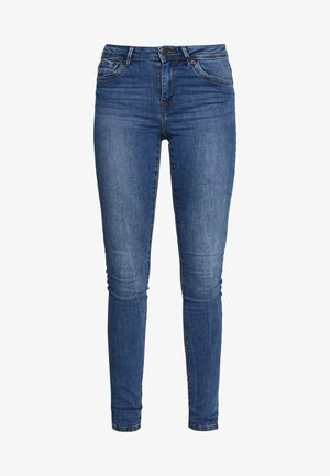 VMTANYA PIPING - Jeans Skinny Fit - medium blue denim