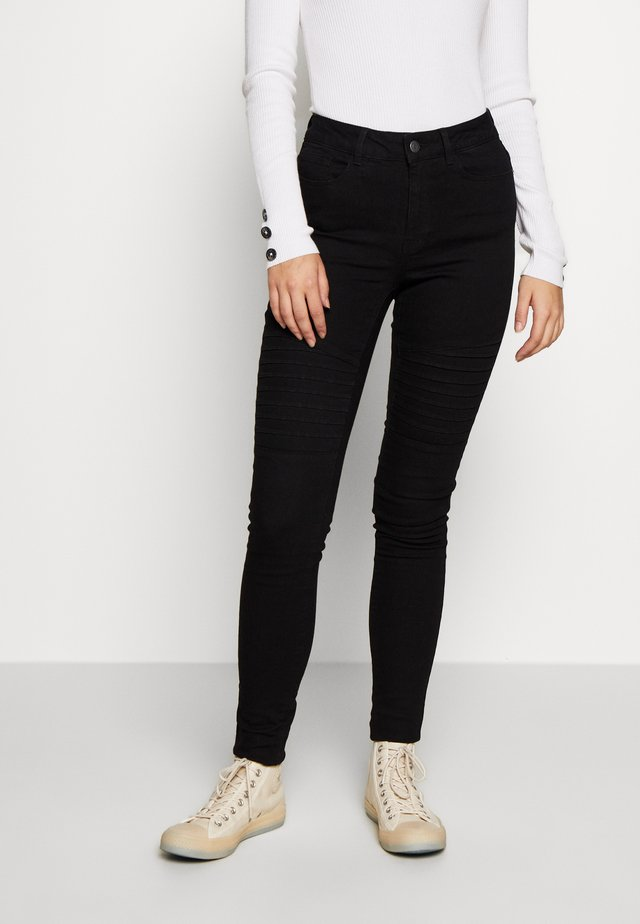 VMHOT SEVEN BIKER PANTS - Jeans Skinny Fit - black