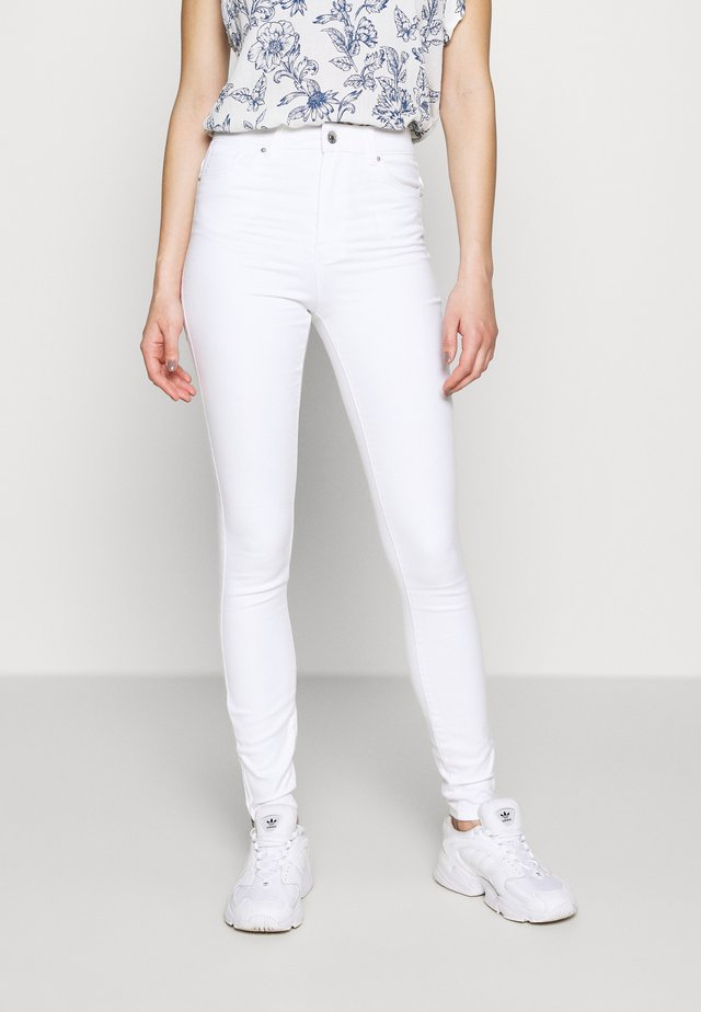 VMSOPHIA ANKLE ZIP - Jeans Skinny Fit - bright white