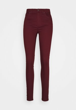 VMTANYA PIPING ANKLE ZIP - Jeans Skinny - cabernet