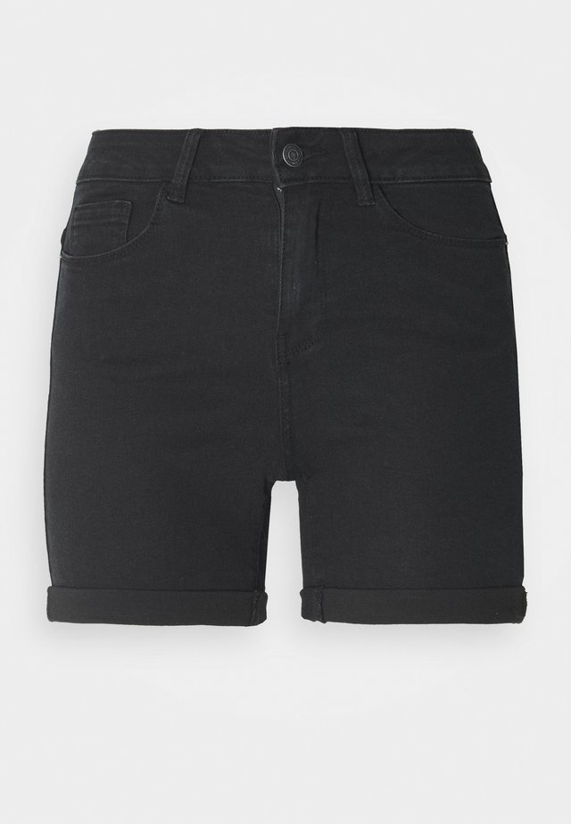 VMHOT SEVEN FOLD TALL - Jeans Shorts - medium blue denim/black