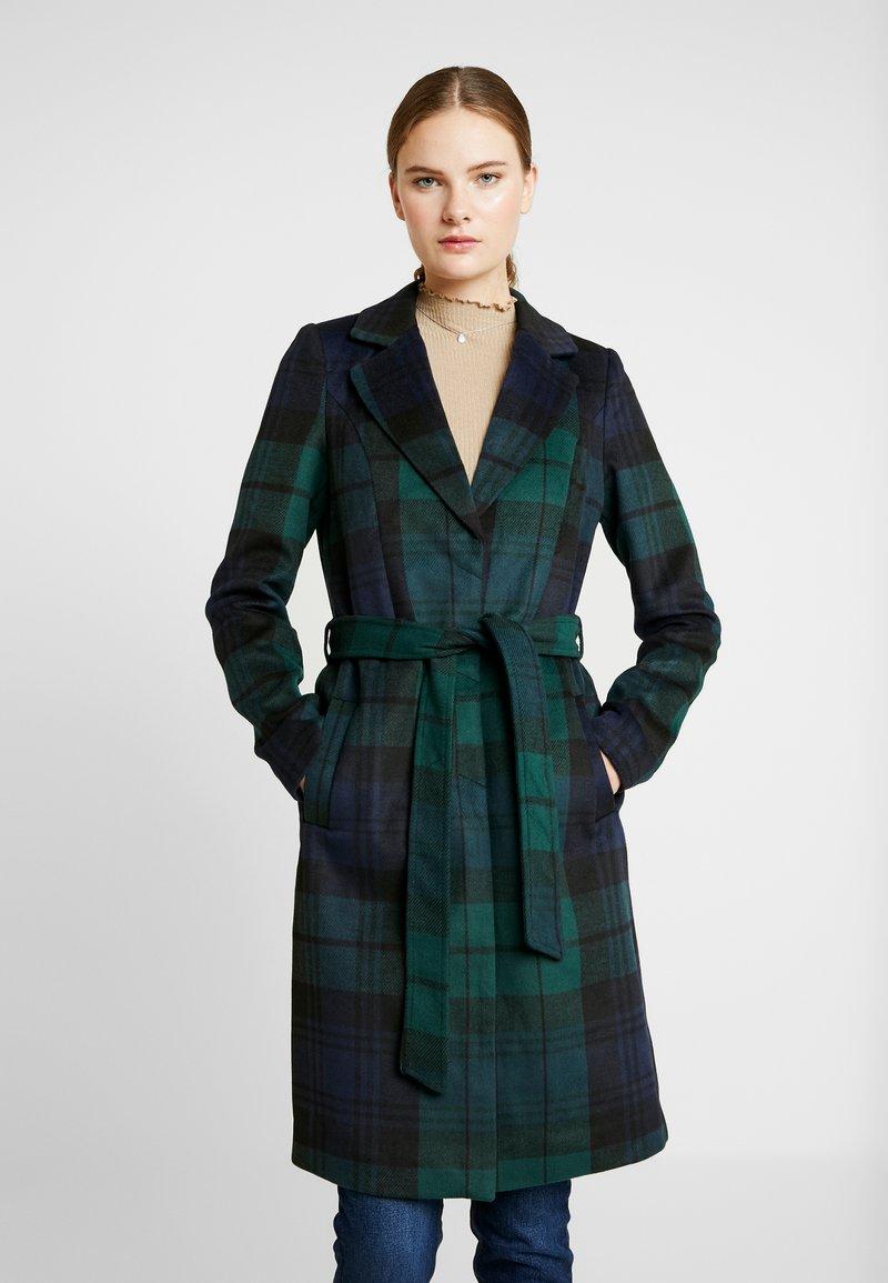 Vero Moda Tall - VMCINDY BELT JACKET - Płaszcz wełniany /Płaszcz klasyczny - ponderosa pine/blue