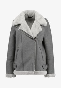 Vero Moda Tall - VMFURRY JACKET - Lehká bunda - medium grey melange - 4