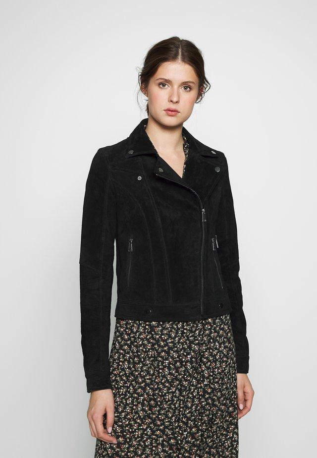 VMROYCESALON JACKET - Leather jacket - black