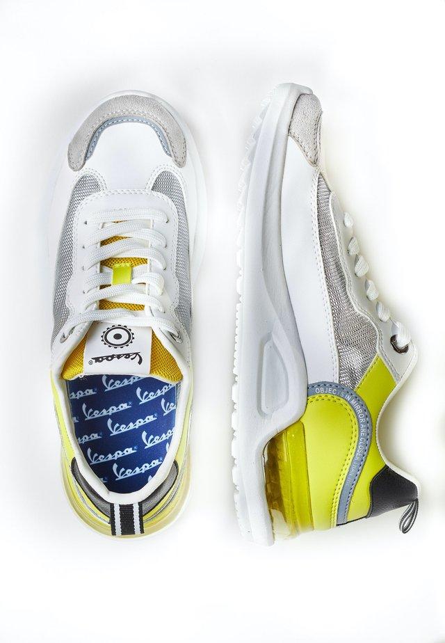 BUBBLE - Trainers - 1033 - bianco-giallo