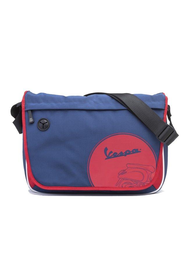 Across body bag - 6950 - blu scuro-rosso