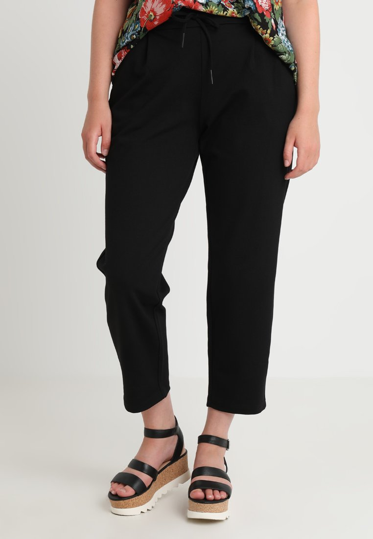 Vero Moda Curve - VMEVA MR LOOSE STRING PANTS CURVE - Trousers - black