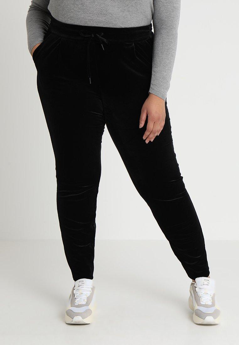 Vero Moda Curve - VMEVA STRING PANT  - Verryttelyhousut - black