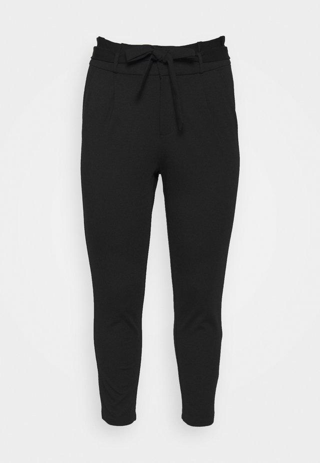 VMEVA PAPERBAG PANT - Stoffhose - black