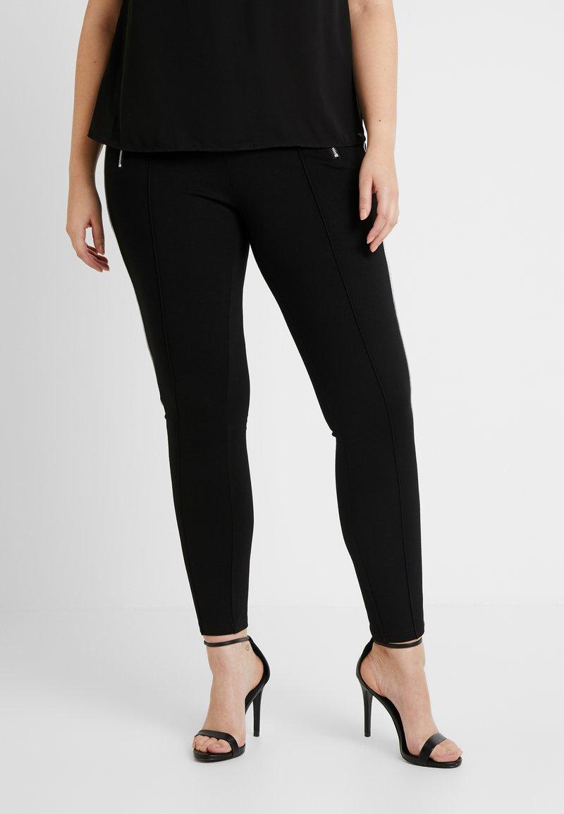 Vero Moda Curve - VMAVAGLITTER ZIP - Legging - black