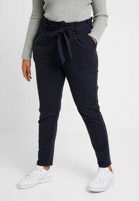 Vero Moda Curve - VMEVA LOOSE PAPERBAG PANT COLOR - Pantalon classique - blue - 0