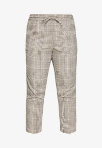 Vero Moda Curve - VMEVA MR LOOSE STRING CHECK - Pantalon classique - silver mink/birch/light blue/black - 4